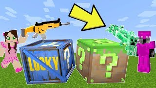 Minecraft: FORTNITE VS MINECRAFT LUCKY BLOCK CHALLENGE! - Modded Mini-Game