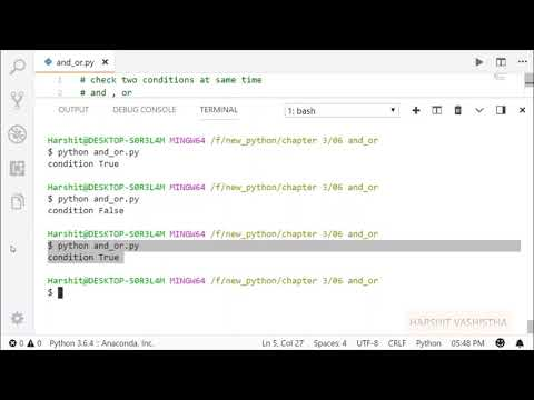 And, Or Operator   Python tutorial 44 thumbnail