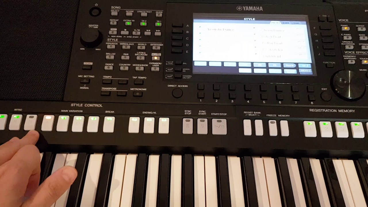 yamaha psr s775 plus styles and voices youtube. Black Bedroom Furniture Sets. Home Design Ideas
