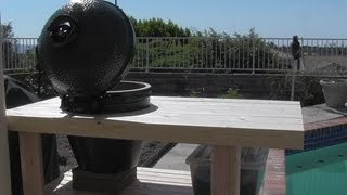 Build A Big Green Egg Table Nest 100 Bucks - My New Green Egg