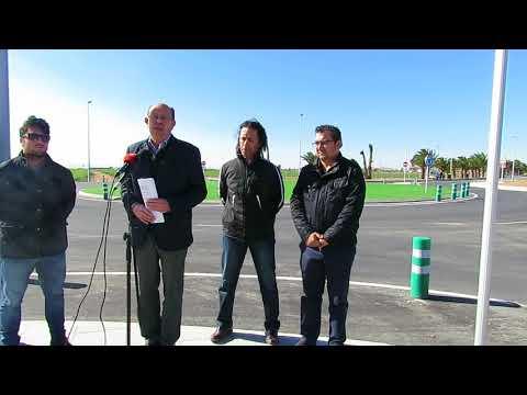 Inauguración rotonda Avenida del Velero en Torre de la Horadada