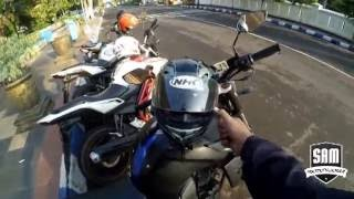 #6 Review Helm NHK GP1000 + EL WIRE #Motovlogger Madiun