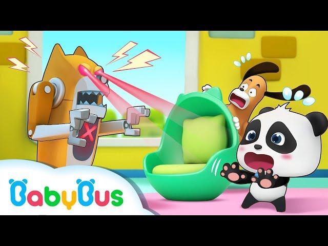 Crazy Robot Dog Attacks Baby Panda | Magical Chinese Characters | Panda's Magic Bow Tie | BabyBus