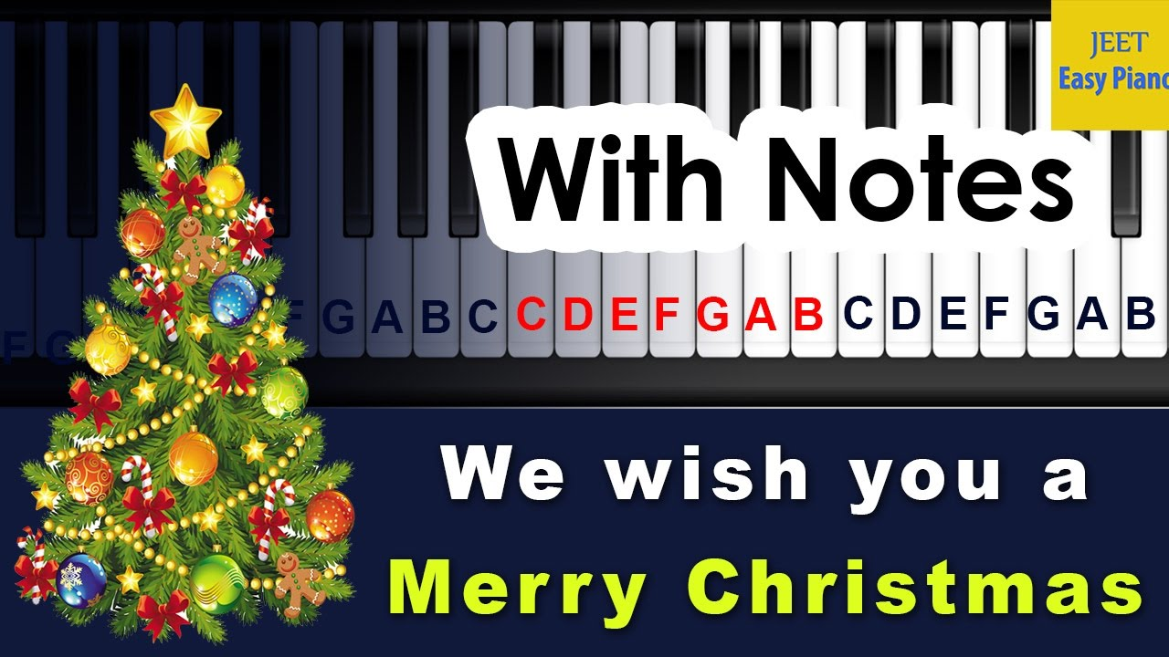 Image Result For We Wish You A Merry Christmas Piano Tutorial