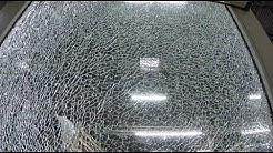 Edgewood couple's sliding glass door spontaneously shatters