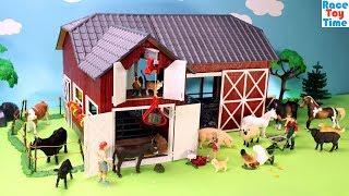 Schleich Farm World Red Barn Playset - Fun Farm Animals Toys For Kids