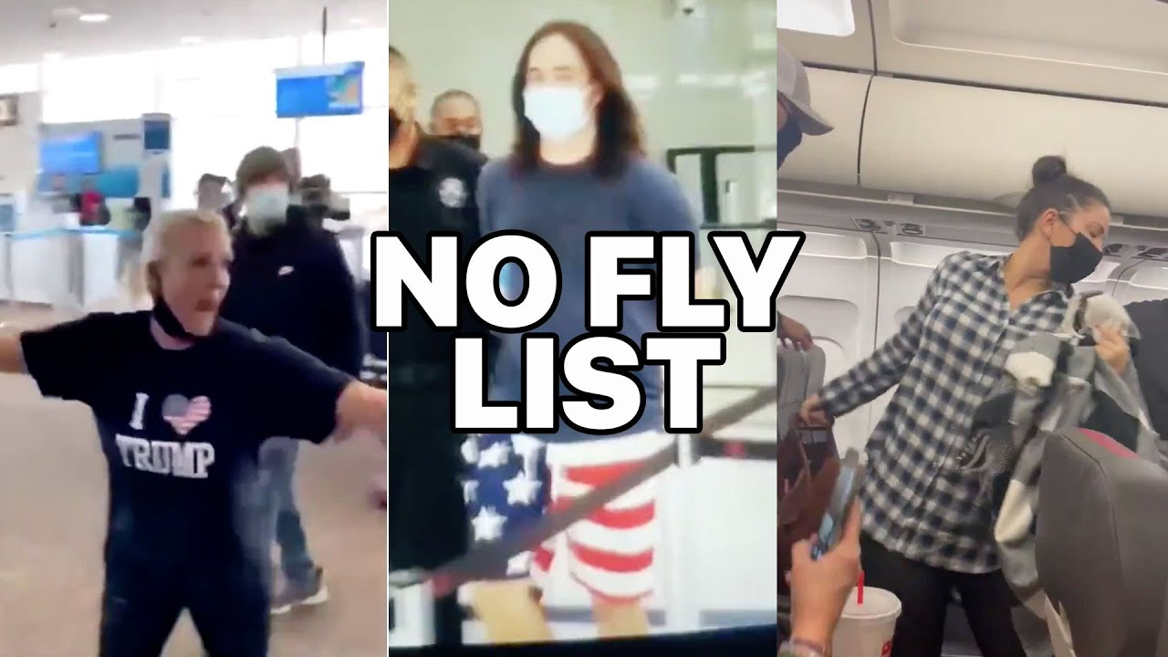 No Fly List Compilation: MAGA Trump supporters freakout in airports when they are banned from flying