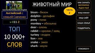 Топ 10000 английских слов /v-011-2/ Английский язык / животный мир на английском