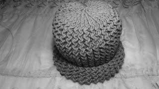 Как связать мужскую шапочку (шапку) спицами для взрослого