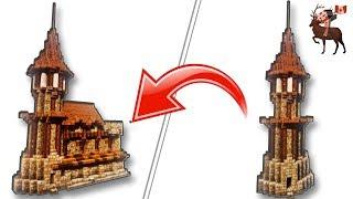 Tutoriel Minecraft: Comment bien construire une tour médiéval sur Minecraft + Muraille