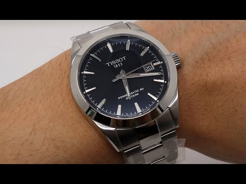 UNBOXING TISSOT GENTLEMAN POWERMATIC 80 SILICIUM BLACK DIAL  T1274071105100