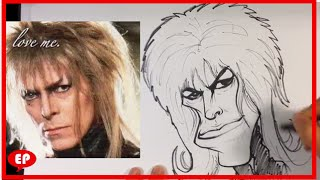 How to Caricature David Bowie - Easy Picture to Draw