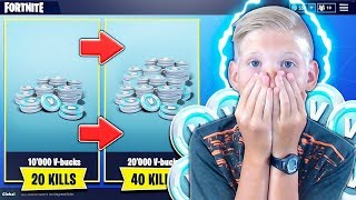 1 KILL - 500 V-BUCKS FOR MY PETIT FREE on FORTNITE 😱