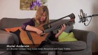 """Why worry"" by Muriel Anderson on a Brunner Compact Harp Guitar"