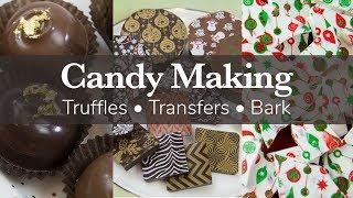 How to Make Truffles, Almond Bark and Use Chocolate Transfer Sheets | Global Sugar Art
