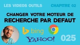 Changer votre moteur de recherche par défaut sur Chrome (Google, Yahoo, Bing)