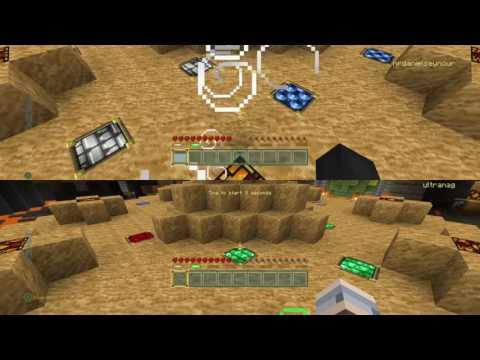 Daniel Vs Molly in Minecraft mini battle showdown!!