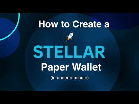 How to create a Stellar Lumens XLM Offline Paper Wallet in 1 Minute