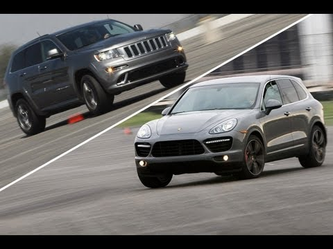 2012 Jeep Grand Cherokee SRT8 vs 2011 Porsche Cayenne Turbo | Track Tested | Edmunds.com