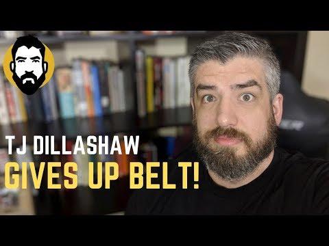 TJ Dillashaw Fails Drug Test, Gives Up UFC Title Belt | Luke Thomas