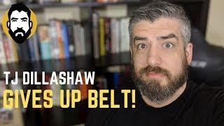 tj dillashaw fails drug test gives up ufc title belt luke thomas