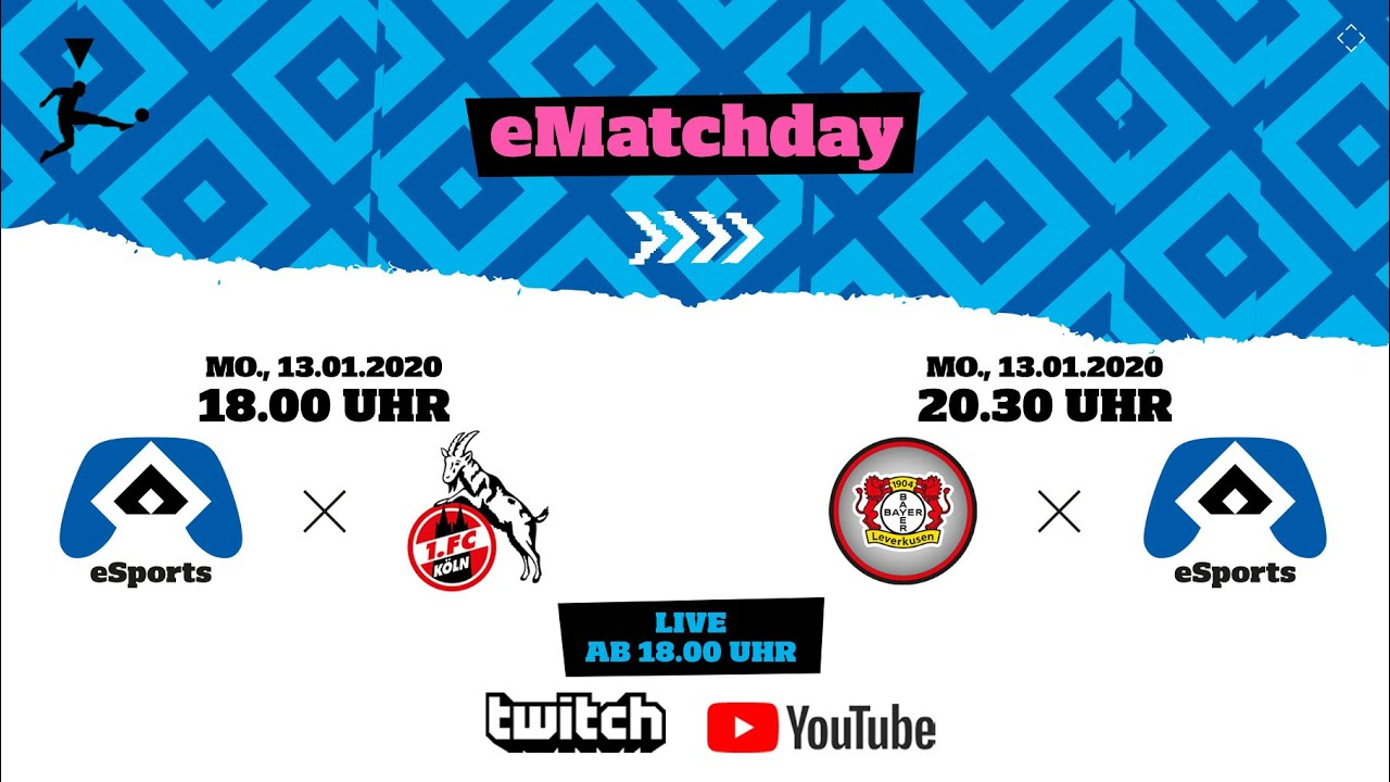 LIVE: HSV eSports I 14. & 15. Spieltag: HSV - 1. FC Köln I Bayer 04 Leverkusen - HSV