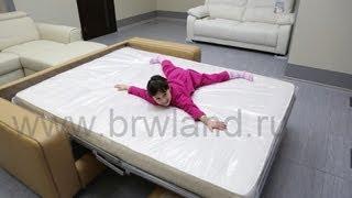 видео диван кровать с ортопедическим матрасом
