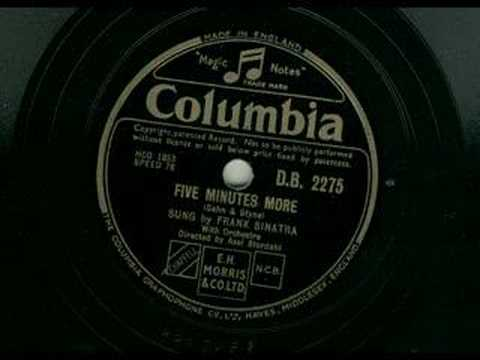 Frank Sinatra - Five minutes more 78 rpm 1946 factory sample Mp3
