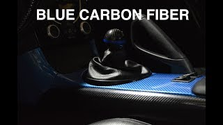Wrapping My RX8 Interior -Blue Carbon FIber !
