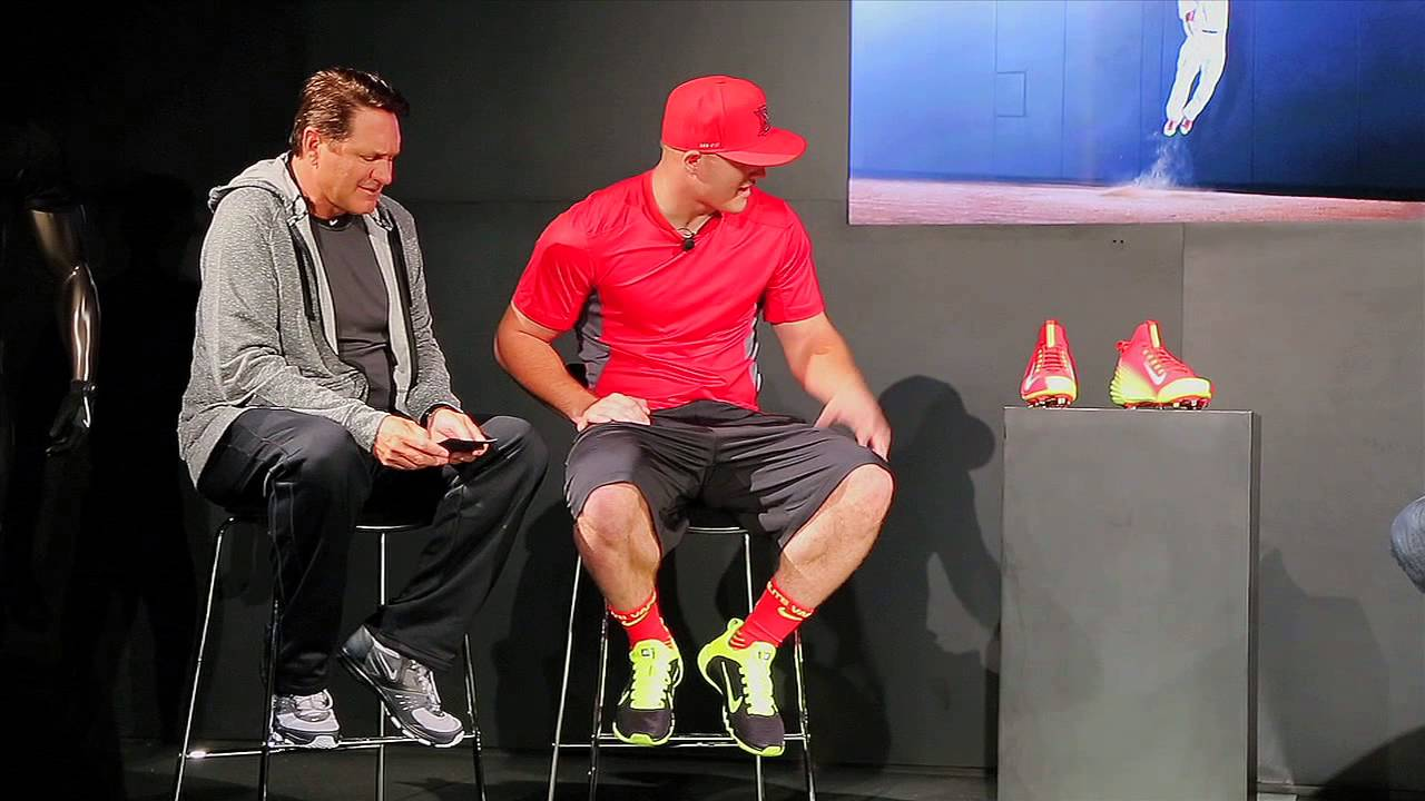 Mike Trout Unveils His Signature Nike