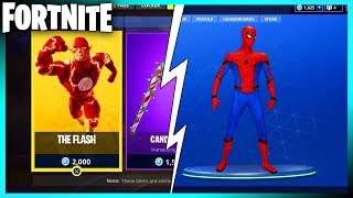 FLASH & SPIDERMAN SKINS COMING TO FORTNITE BATTLE ROYALE?! MAJOR CHANGES WITH SEASON 4 LEAKS!!