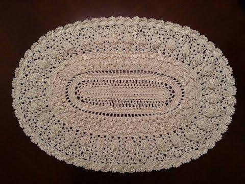 Crochet Doily Elegant Oval Doily Part 1 Youtube