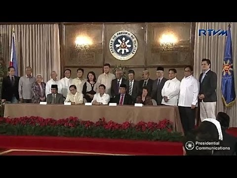 President Rody Duterte signs an EO that will reconstitute the Bangsamoro Transition Commission