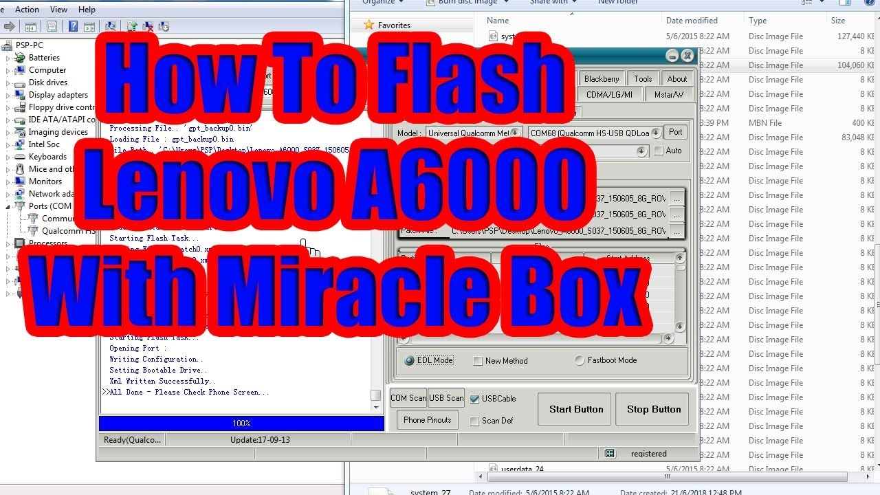 How To Flash Lenovo A6000 With Miracle Box | MP3DIRECT GA