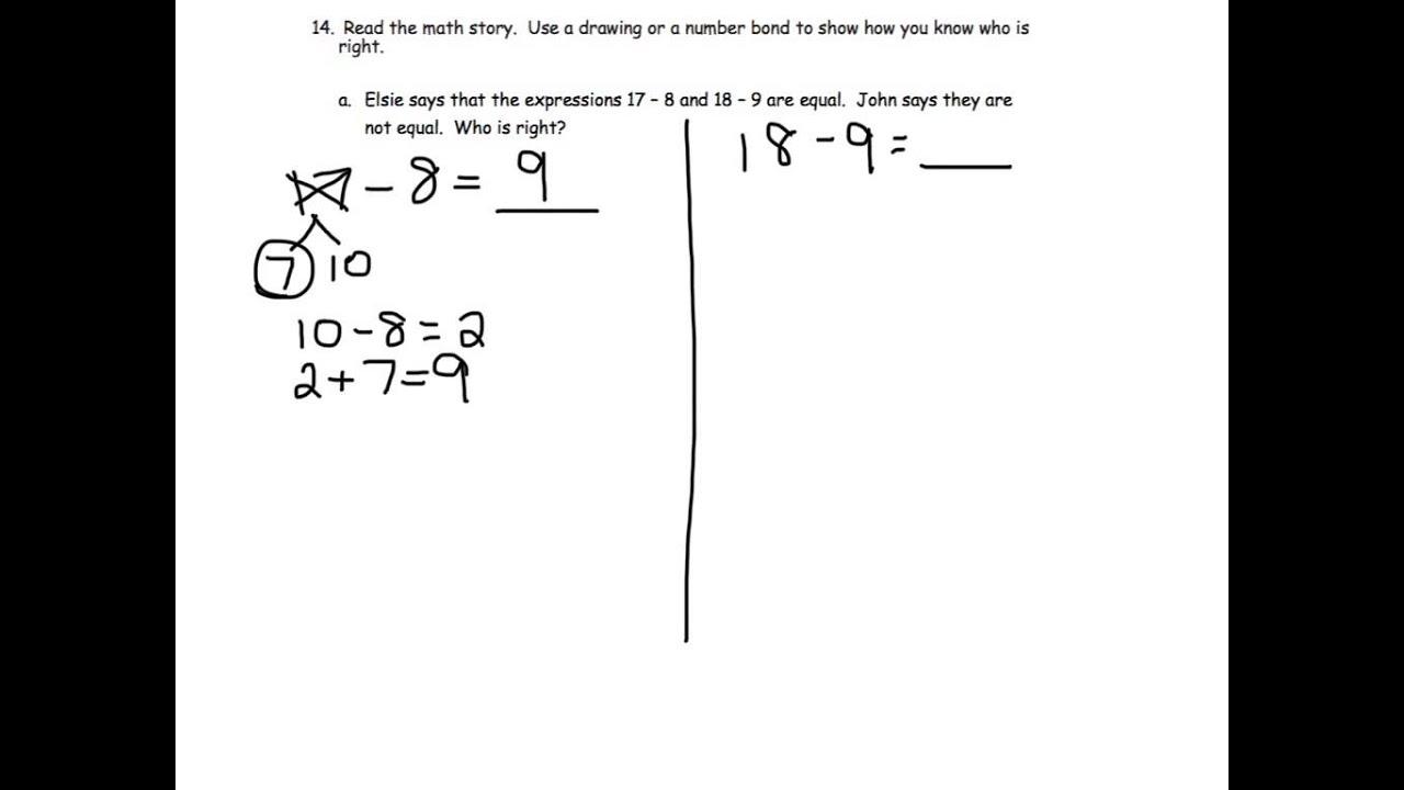 Grade 1 Module 2 Lesson 20 Homework 14 A