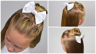 2 cute 4-MINUTE Back to school hairstyles ★Half up half down★ Little girls hairstyles #84 #LGH