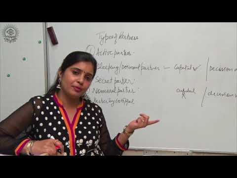 [Full Video] a. Types of Partners b. Partnership Deed CBSE  Class XI Business Studies By:- Ruby