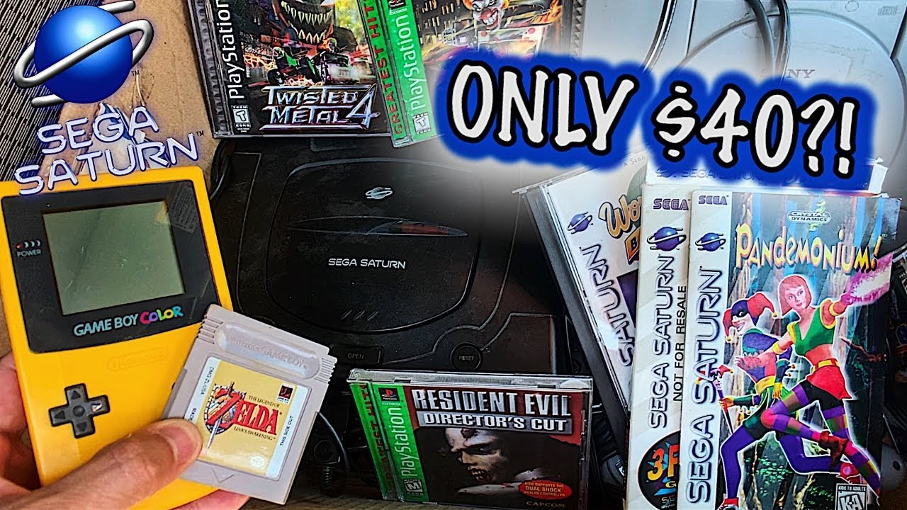 Live Game Hunting MY BEST FIND YET! (Sega Saturn, Gameboy, PS2) | $10 Dollar Collection (Episode 12)