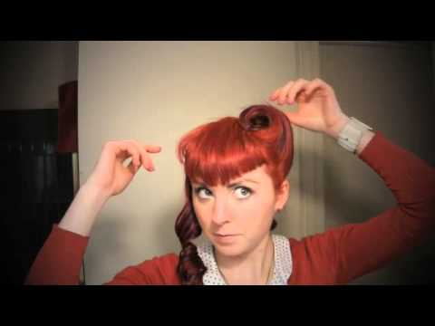 Vintage Hairstyle Tutorial Victory Rolls Youtube