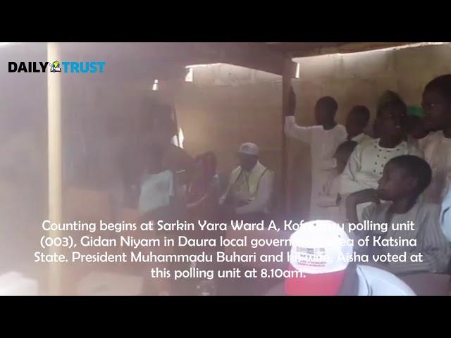 NigeriaDecides: Vote counting commences at Buhari, Aisha polling