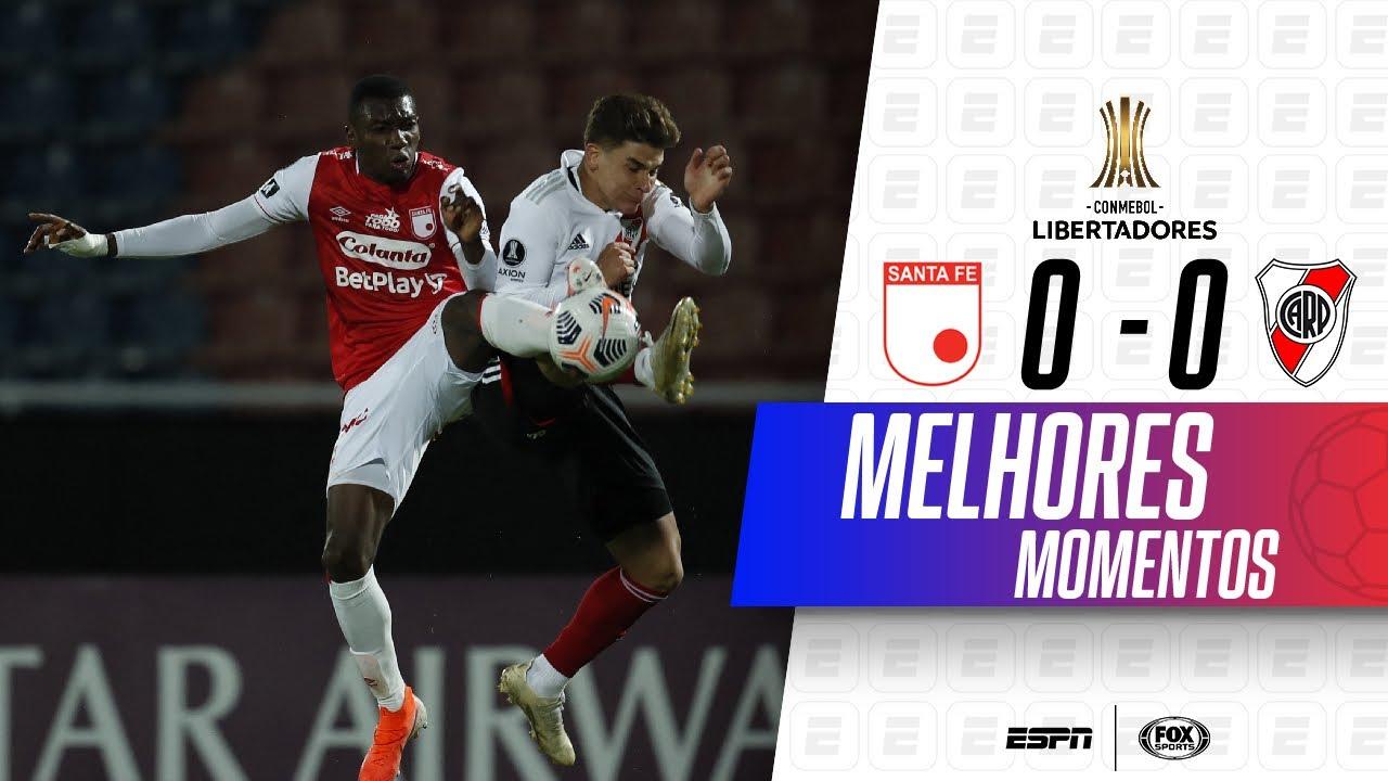 EMPATE AMARGO! Melhores momentos de Santa Fé 0 x 0 River Plate na Libertadores