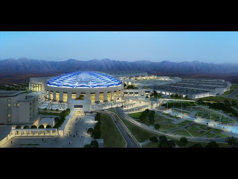OMAN Convention & Exhibition Centre - 3D animated venue flyt