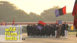 National Cadet Corps march past during NCC National Games closing ceremony