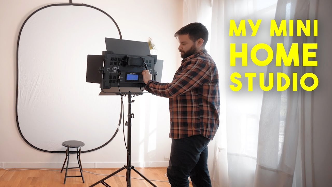 How to Set Up a Mini Home Photography Studio - YouTube