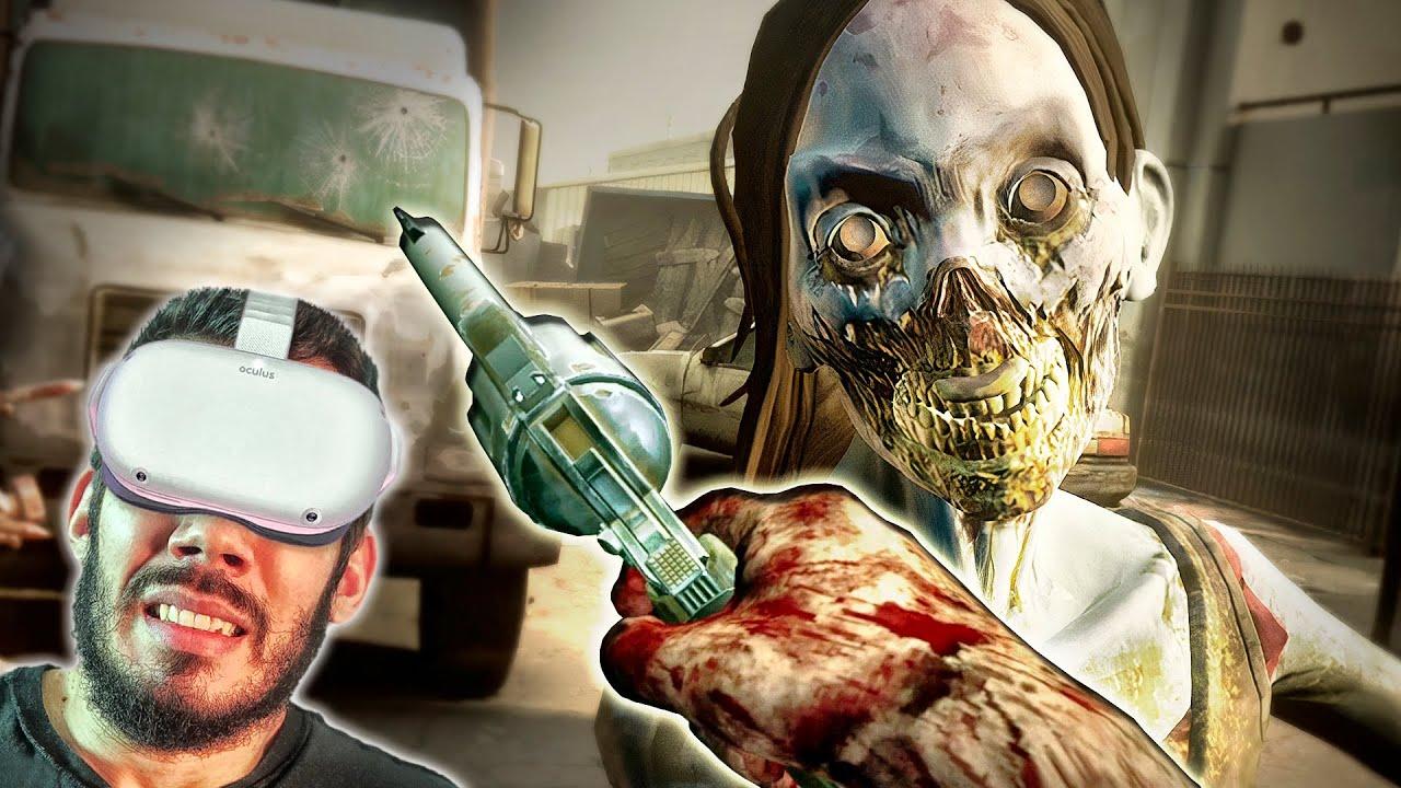 """THE WALKING DEAD VR - #4 : OS ZUMBIS """"DOENTES"""" e TESTANDO Novas """"Ferramentas"""""""