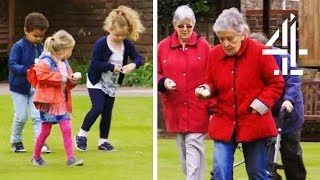The Kids & Old People Compete In An Exciting Sports Day! | Old People's Home For 4 Year Olds