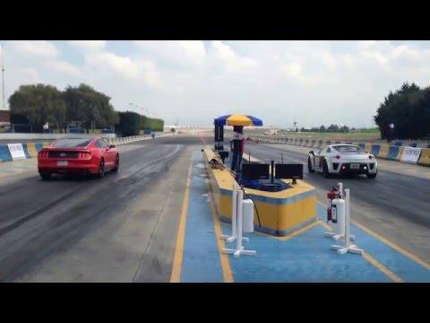 Ford Mustang GT 5.0 2015 Vs Mastretta mxt turbo arrancones 1/4 de milla centro dinamico pegaso