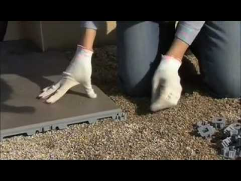 Pose carrelage sans colle pour ext rieur youtube for Pose de carrelage exterieur sur chape beton