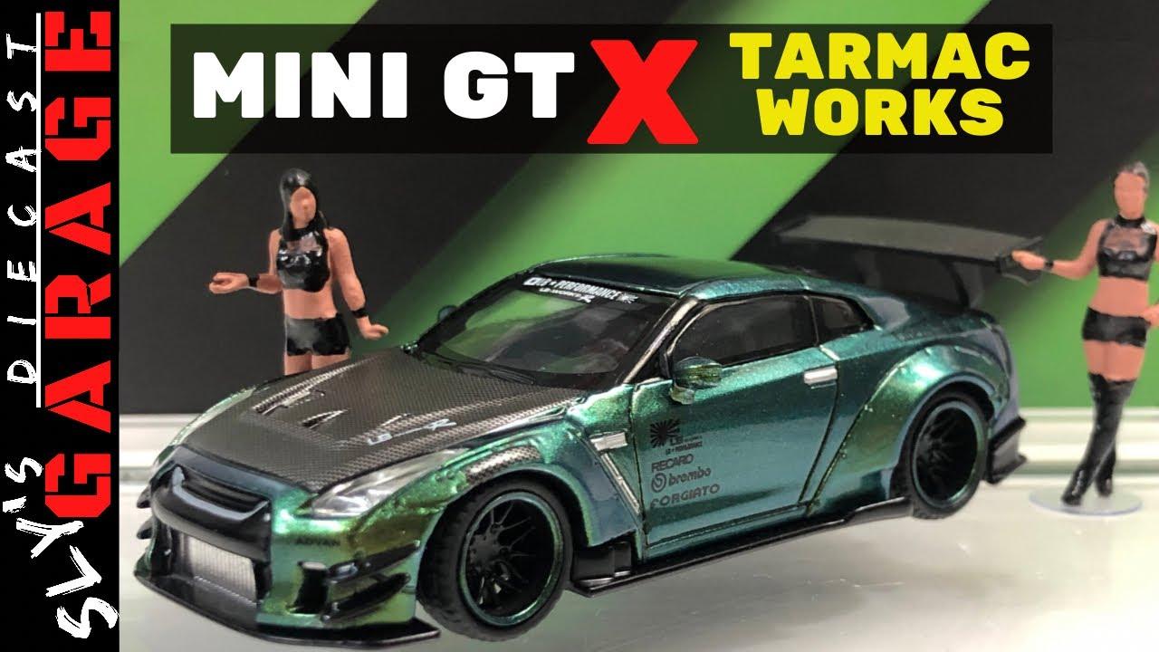 MINI GT x Tarmac Works 1:64 LB WORKS Nissan GT-R R35 Magic Green