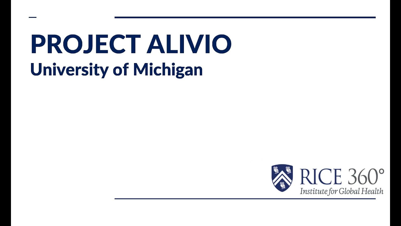 Team Project Alivio - 3rd place, Global Health Design Competition 2020, hosted by Rice 360 Institute